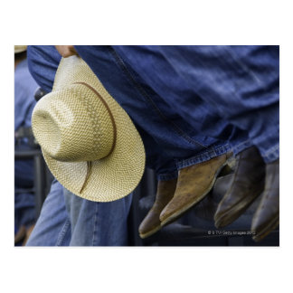 Closeup of Boots & Hat Postcard