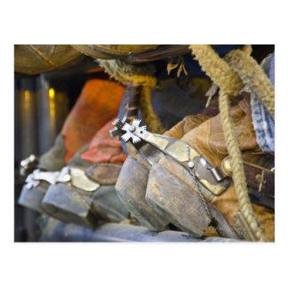 Closeup of Boots & Spurs Postcard