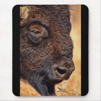 Closeup of Buffalo Mousepad
