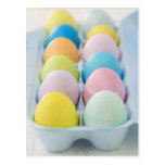 Closeup of coloured Easter eggs Postcard