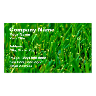 Closeup of Green Lawn Business Card Template