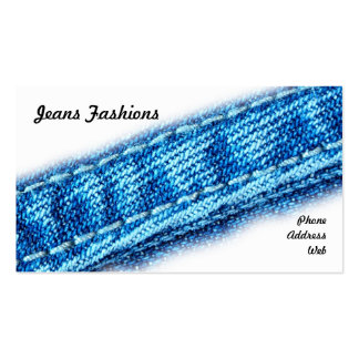 Closeup of Jeans and Denim Fabric Business Card Template