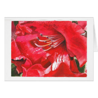 Closeup of Rhododendron Card