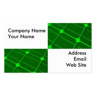 Closeup of Solar Panels Business Card