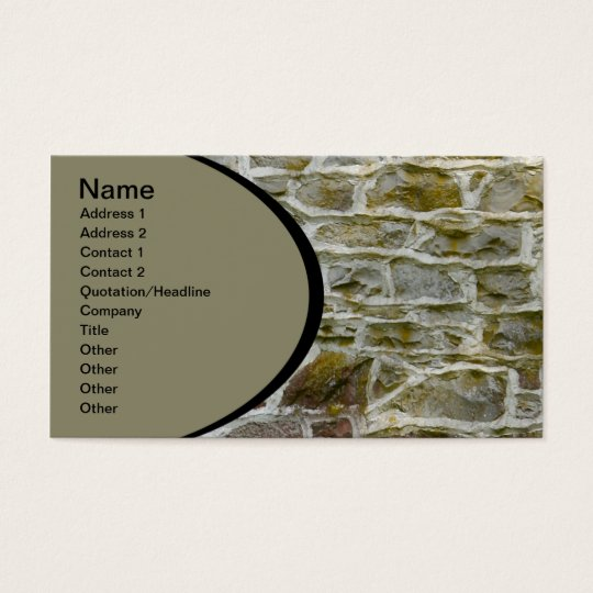 closeup of stone wall and mortar business card
