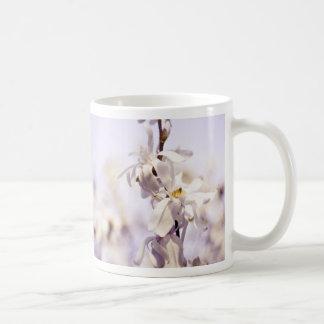 Closeup White Dogwood blossom art photo Basic White Mug