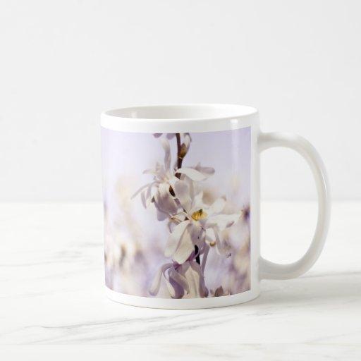 Closeup White Dogwood blossom art photo Coffee Mug