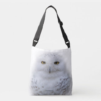Closeup with a Snowy Owl Tote Bag