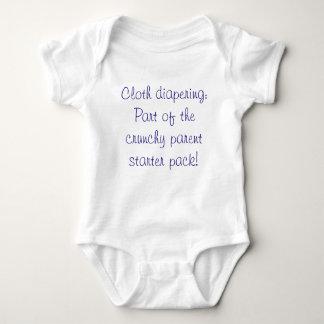Cloth diapering: part of the crunchy parent... baby bodysuit