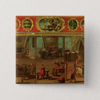 Cloth Dyers Demonstrating their Trade and Skills 15 Cm Square Badge