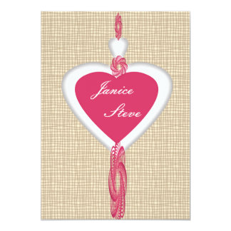 Cloth Heart Invite Card