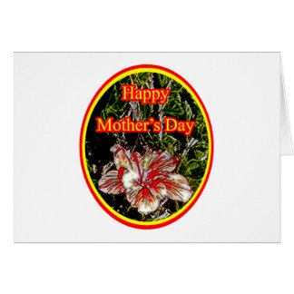 Cloth Hibiscus Happy Mother Day 2 o The MUSEUM Zaz Card