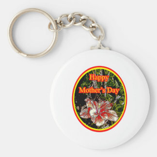 Cloth Hibiscus Happy Mother Day 2 o The MUSEUM Zaz Key Chains