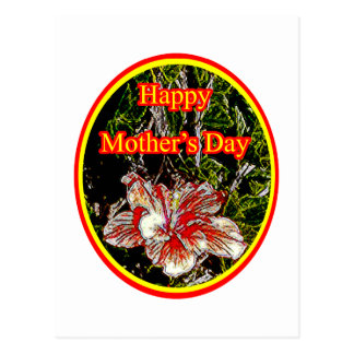 Cloth Hibiscus Happy Mother Day 2 o The MUSEUM Zaz Postcard