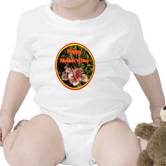 Cloth Hibiscus Happy Mother Day 2 o The MUSEUM Zaz Baby Bodysuit