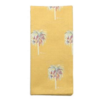 Cloth Napkin Set- Yellow Palm Tree
