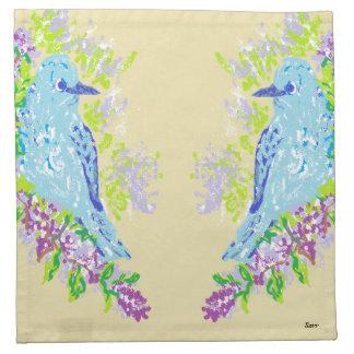 Cloth Napkins/ Blue Birds