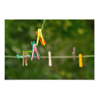 Cloth Pins On The Line Photo