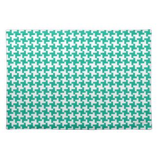 Cloth Place Mat, Emerald Green Dogtooth Placemat