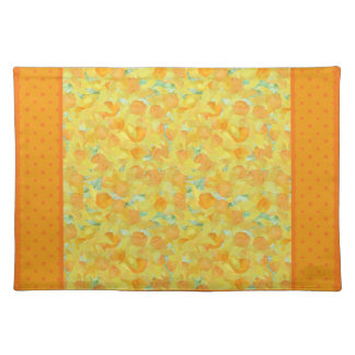 Cloth Placemat, Golden Daffodils, Polka Dots Placemat