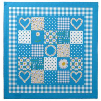 Cloth Table Napkins: Daisychains Faux Patchwork