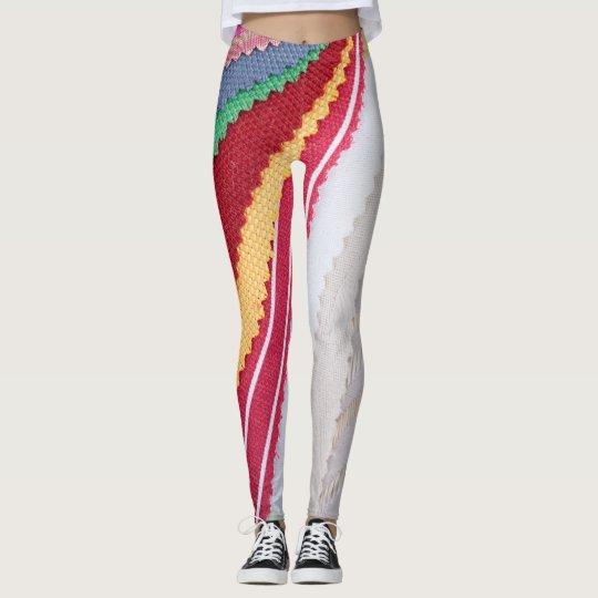 Cloth texture samples replicating material leggings