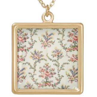 Cloth woven for Queen Marie Antoinette at the Pala Gold Plated Necklace