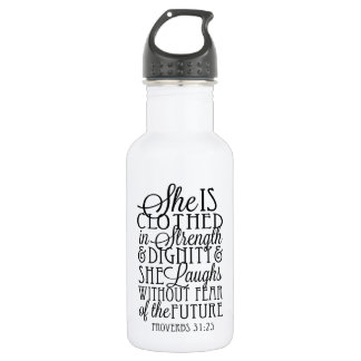 Clothed in Strength & Dignity 532 Ml Water Bottle