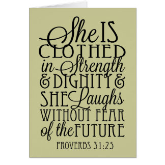Clothed in Strength & Dignity Greeting Card