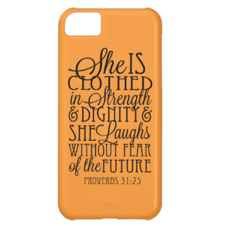 Clothed in Strength & Dignity iPhone 5C Covers