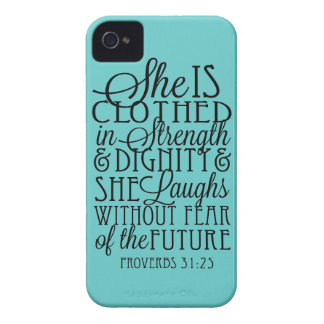 Clothed in Strength & Dignity iPhone 4 Case-Mate Cases