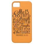 Clothed in Strength & Dignity iPhone 5 Case