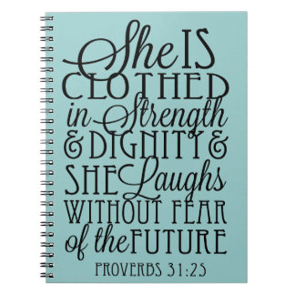 Clothed in Strength & Dignity Spiral Note Books