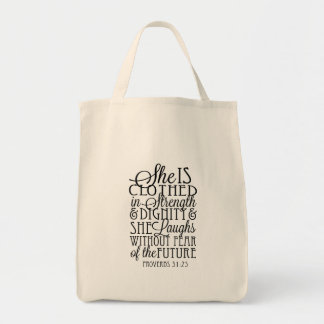Clothed in Strength & Dignity Tote Bag