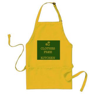 Clothes free kitchen apron