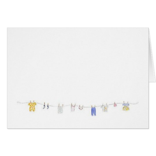 Clothes Line Card