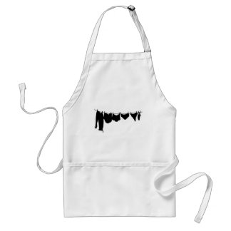 Clothes line silhouette aprons
