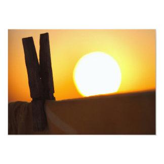 Clothes peg at sunrise personalized announcement
