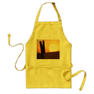Clothes peg at sunrise standard apron