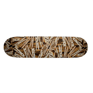 Clothes pins skate boards