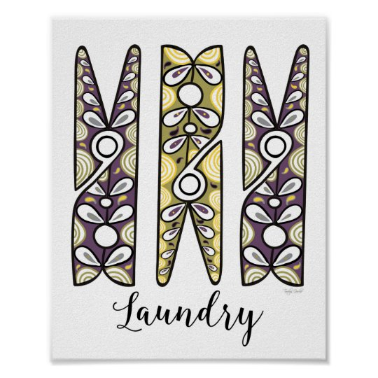 Clothespin Laundry Room Wall Art