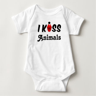 Clothing Baby I Kiss Animals Baby Bodysuit