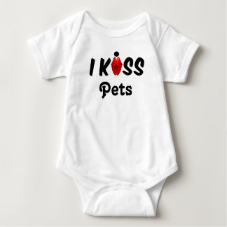 Clothing Baby I Kiss Pets Baby Bodysuit