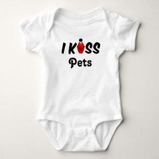 Clothing Baby I Kiss Pets Shirts