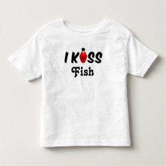 Clothing Chiildren I Kiss Fish Toddler T-Shirt