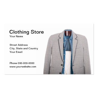 Clothing Store Business Card Business Card Template