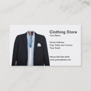 Store clothing business cards business card printing zazzle uk clothing store business card reheart Choice Image