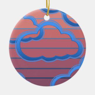 Cloud02clock Round Ceramic Decoration