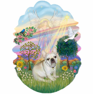 Cloud Angel - French Bulldog 1 Standing Photo Sculpture