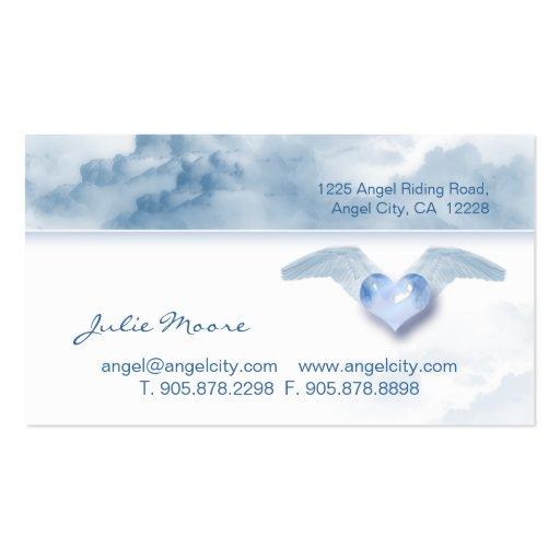 Cloud Angel heart Christian Business Card